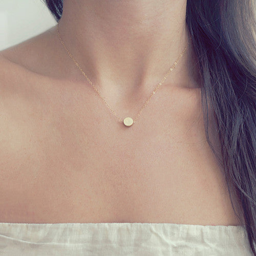 Tiny Gold Dot Necklace