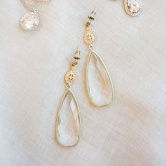The Bridal Collection: Crystal Quartz Drop Earrings
