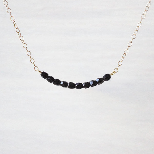 Obscura - Black Bar Necklace
