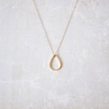 Gold Tear Drop Necklace