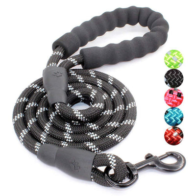 5 FT Strong Dog Leash With Comfortable Padded Handle and Reflective Threads