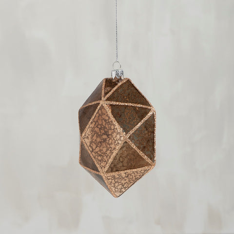 Glass Ornament - Faceted Gold