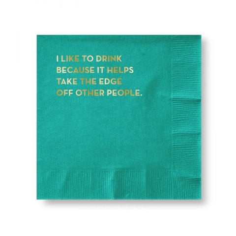 Cocktail Napkins - Takes The Edge Off..