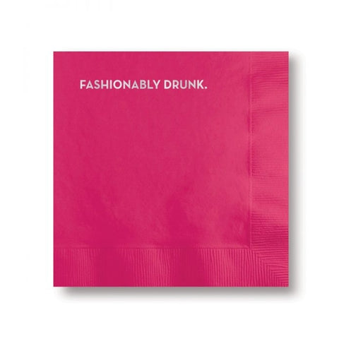 Cocktail Napkins - Fashionably Drunk
