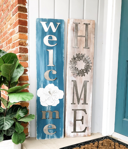Home + Welcome DIY Signs