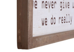 "Wood Framed Wall Decor ""In This House"""