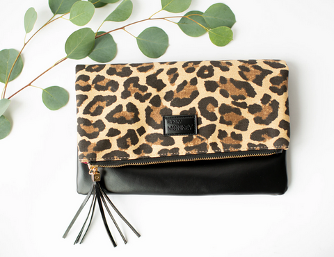 Fold-over Clutch - Leopard