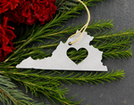 Metal Virginia Ornament