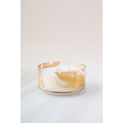 Gold Marble Glass Candle No. 67 Citrus