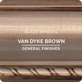 Van Dyke Brown Glaze Effects
