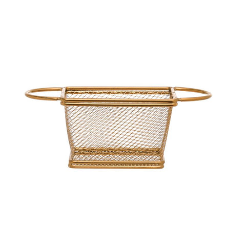 Gold Mesh Berry Basket
