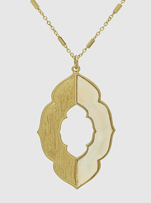 Quatrefoil Pendant Necklace