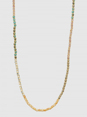 Ombre Faceted Beads Long Necklace