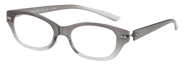 Gradient Grey Modified Cat Eye Readers