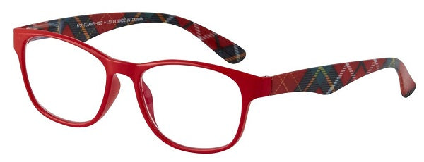 flannel plaid reading glasses