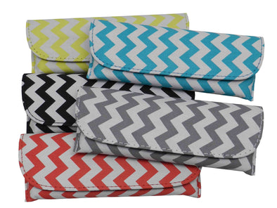 Chevron Print Semi-Hard Eyeglass Case