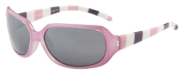 Pink Striped Bifocal Sunglasses