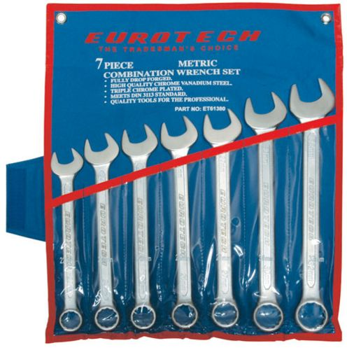 EUROTECH Tradesman Quality 7Pc 22-32mm Professional Spanner Set CR-V Steel