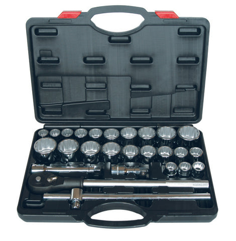 "Eurotech 27 Piece 3/4""Drive AF/Metric Socket Set"