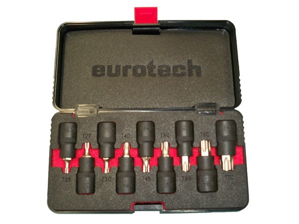 EUROTECH Quality Tradesman 9 piece 1/2 Drive Inserted Bit Socket Set