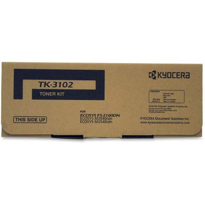 Kyocera 1T02MS0US0 Model TK-3102 Toner Cartridge For use with Kyocera ECOSYS M3040idn, ECOSYS M3540idn and FS-2100DN Black and White Printers, Up to 12500 Pages, Black: Gateway