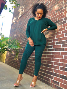 Hunter Green Moto Leggings