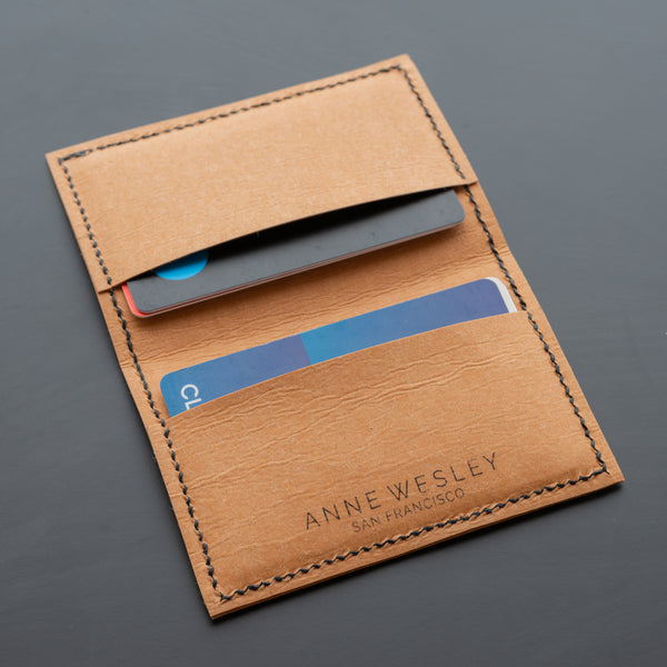 Cruelty Free Vegan Leather Bifold Card Wallet by Anne Wesley