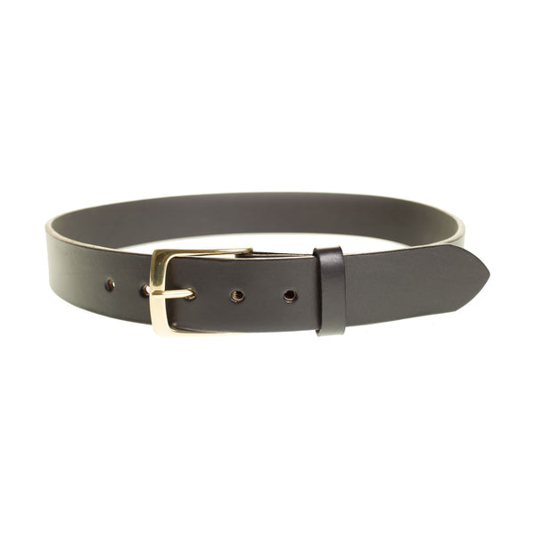 Handmade Full Grain Leather Belt in Black