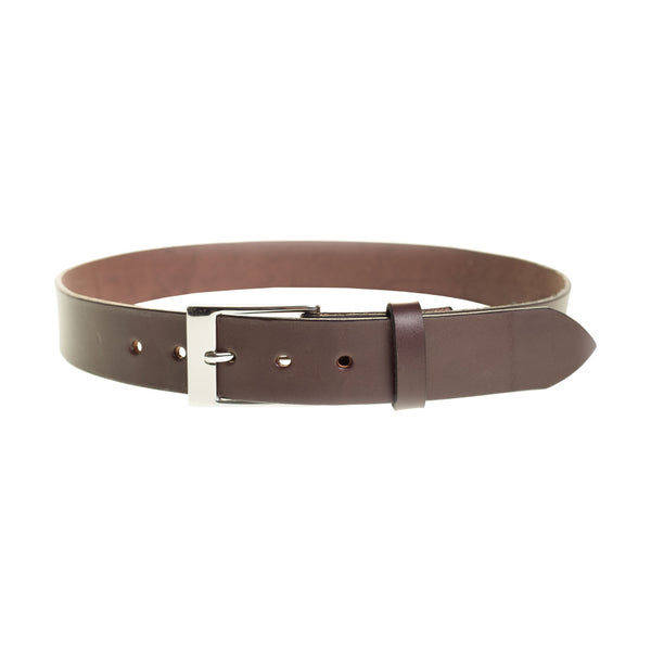 Handmade Full Grain Leather Belt in Dark Brown