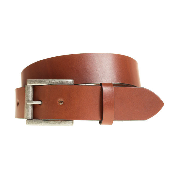 Handmade Full Grain Leather Belt in Medium Brown