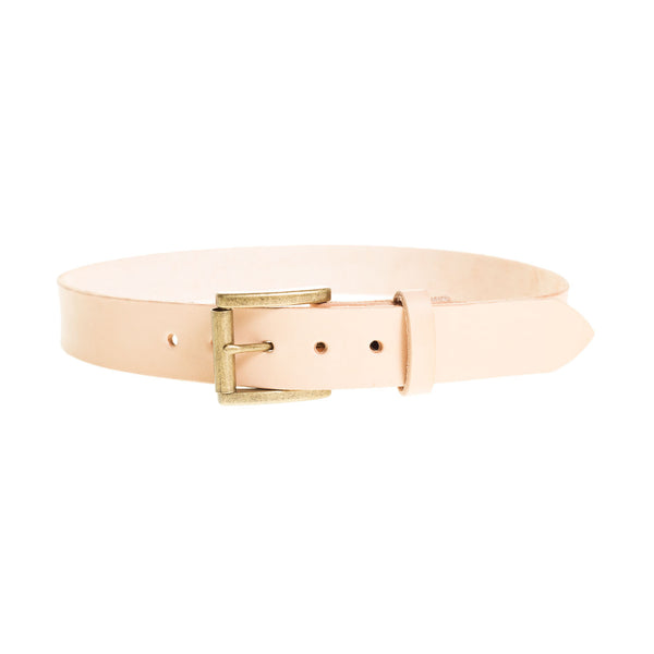 Handmade Full Grain Leather Belt in Natural