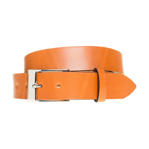Handmade Leather Belt in British Tan