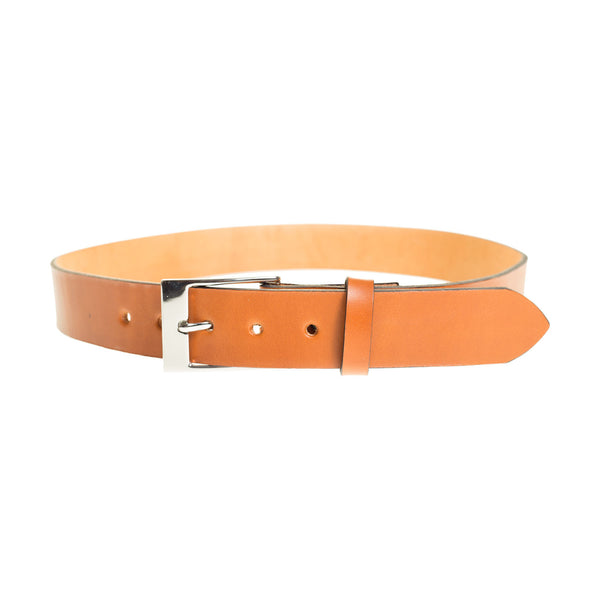 Custom Leather Belt in British Tan