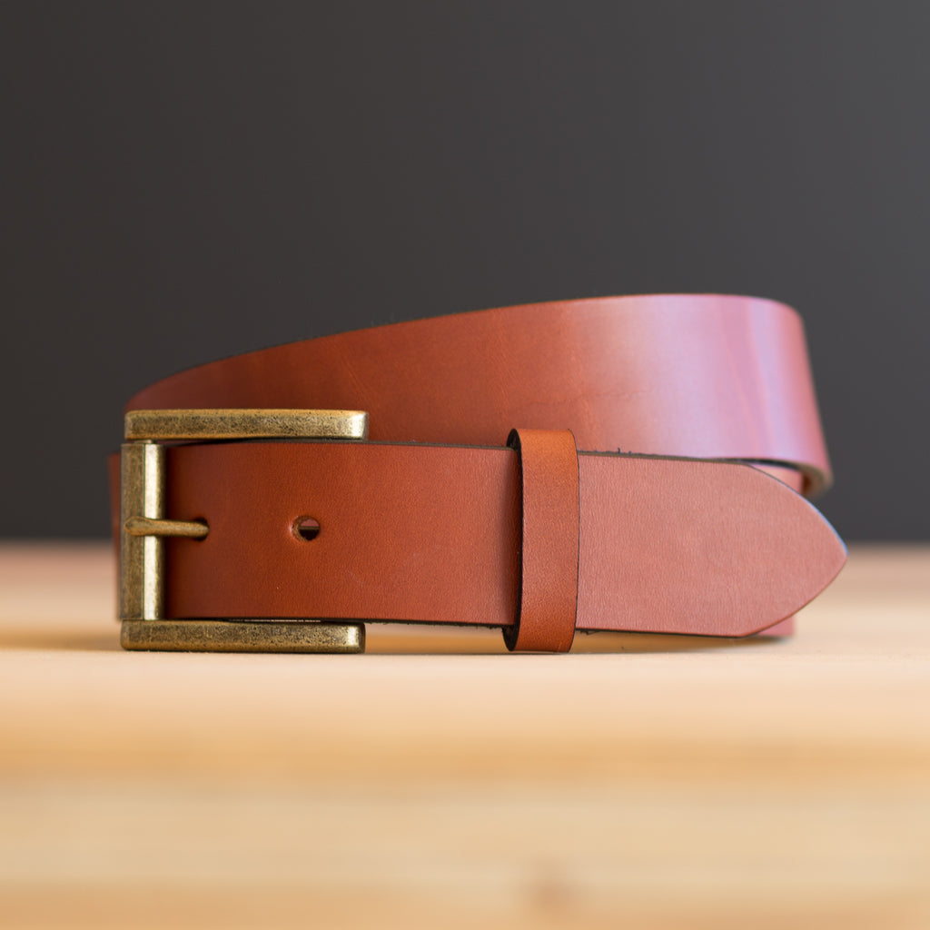 Custom Made-to-Measure Leather Belt in British Tan