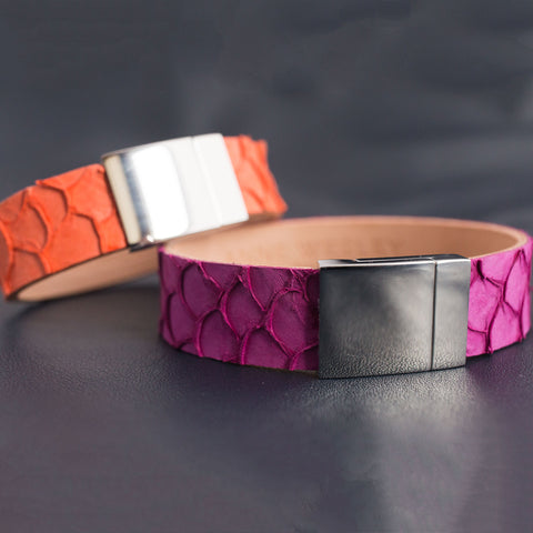 Fish Skin Leather Bracelet
