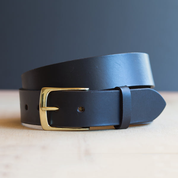 Full Grain Leather Belt Mens Black Jeans Belt Free