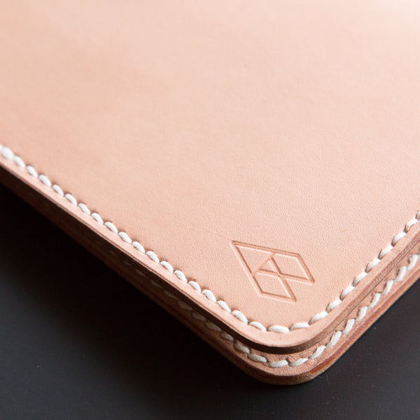 Personalized Saddle Stitched Leather Passport Cover