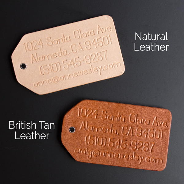 Personalized Leather Coordinates Keychain