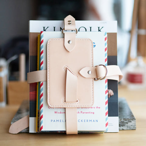 Personalized Leather iPad Holder / Book Strap