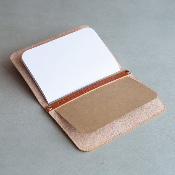 Personalized Minimalist Leather Passport Cover
