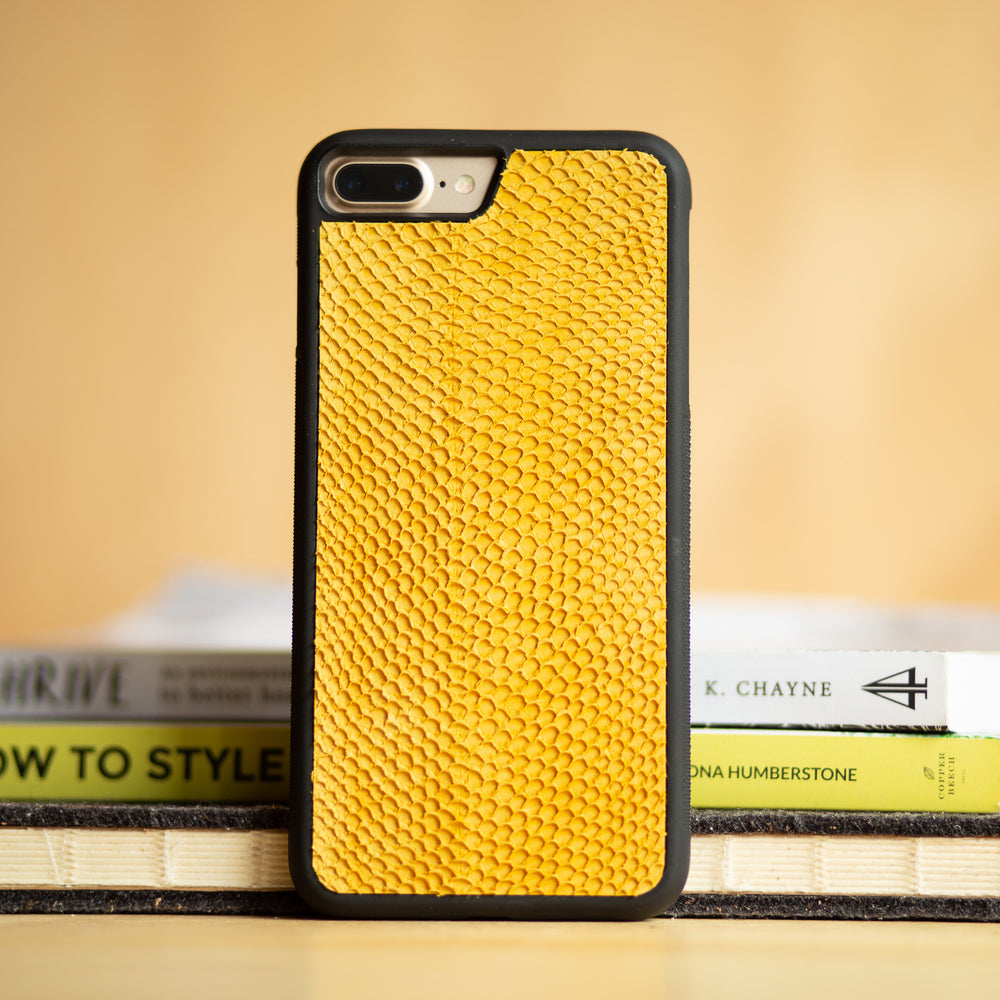 Salmon Fish Skin Leather iPhone Case