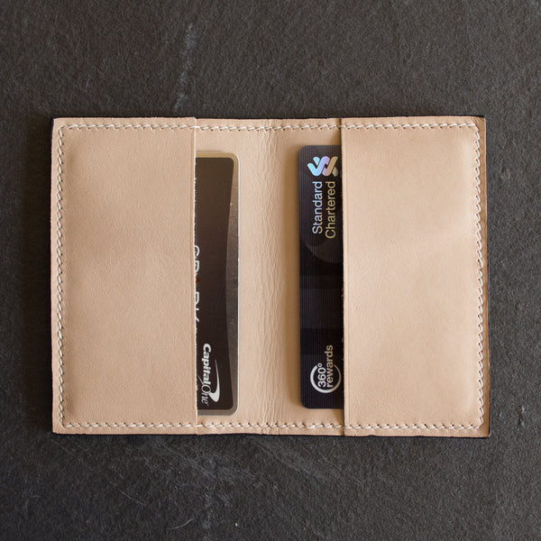 Salmon Fish Skin Leather Bi-Fold Cardholder Wallet