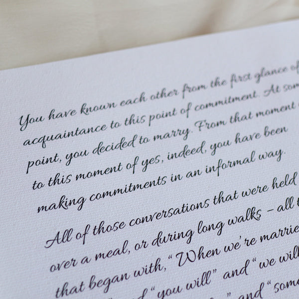 Personalized Wedding Vows / Song Print - Leaves