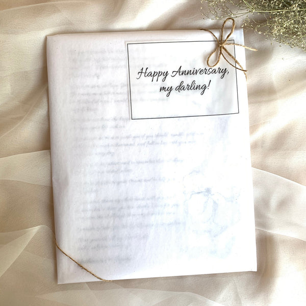 Set of 2 Personalized Wedding Vows / Song Prints - Cotton Stems