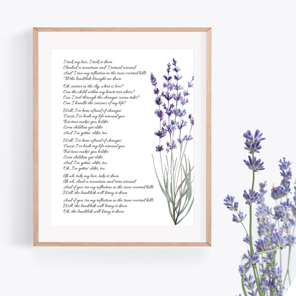Personalized Wedding Vows / Song Print - Lavender