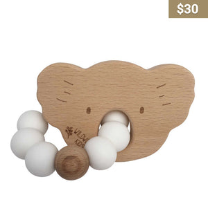 Wooden Koala Teething Ring - Earth Interiors