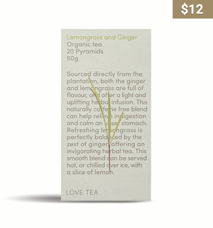 Lemongrass & Ginger Tea Bags - Earth Interiors