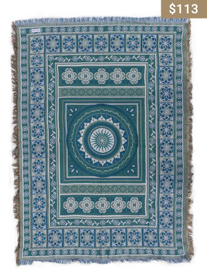 Turquoise Rug - Earth Interiors
