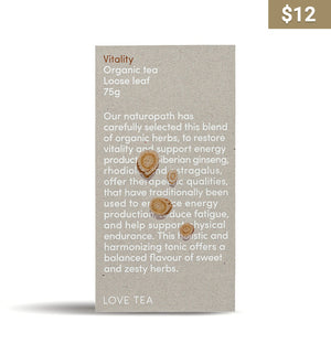 Vitality Loose Leaf Tea - Earth Interiors