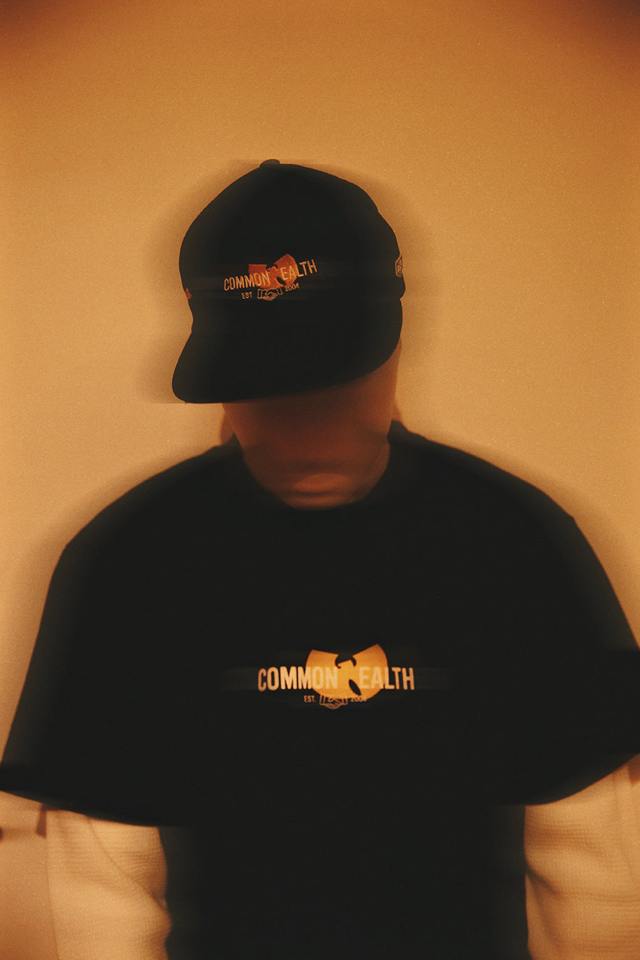 Commonwealth x Wu-Tang photoshoot hat and tee